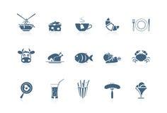 2个食物图标短笛系列 库存照片