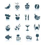 2个食物图标零件 免版税库存照片