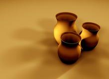2个黏土水罐 免版税库存照片