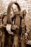 2个齿轮设备开采葡萄酒 免版税库存照片