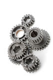 2个齿轮金属 免版税库存图片