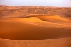 2个awbari沙丘利比亚沙子 免版税库存图片
