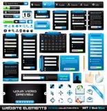 2个blackblue收集设计要素极端万维网 免版税库存图片