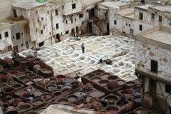 2个fes皮革厂 免版税库存图片