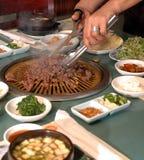 2串烤肉韩文 库存照片