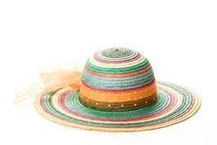 2五颜六色的帽子秸杆 免版税库存照片