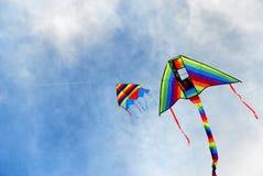 2五颜六色的风筝 图库摄影