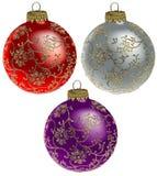 2件圣诞节装饰品卷 库存照片
