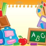 2件框架学校用品 免版税库存照片