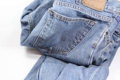 2件牛仔裤 免版税库存图片