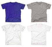2件空白衬衣t 库存照片
