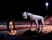 2件艺术品帕布鲁棕色超现实主义者 库存照片