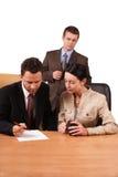 2企业小组工作 免版税库存图片
