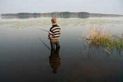 2位渔夫夏天旅行 免版税图库摄影