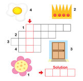 2儿童纵横填字谜零件难题 免版税库存照片