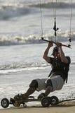 2关闭风筝溜冰板者 免版税库存照片