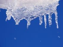 2冰柱熔化 免版税库存照片