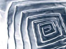 2冷静金属螺旋纹理 免版税库存照片