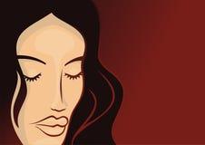2化妆用品女孩模板 免版税库存照片