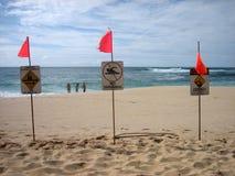 2北部岸警告 库存图片