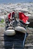 2双体操鞋 免版税图库摄影