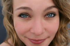 2双蓝眼睛 库存图片