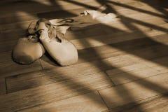 2双pointe鞋子 免版税图库摄影