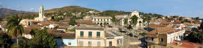2古巴老全景城镇特立尼达 免版税库存图片