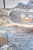 2古老拜占庭式的圣地madaba映射 库存照片