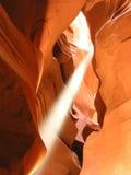 2只羚羊峡谷光轴 库存照片