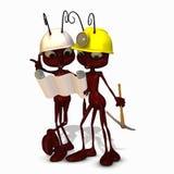 2只蚂蚁建筑 图库摄影