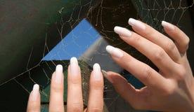 2只蜘蛛妇女 免版税图库摄影