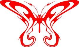 2只蝴蝶火焰状部族向量 免版税库存照片