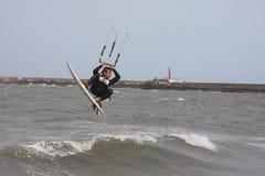 2只风筝海浪 库存照片
