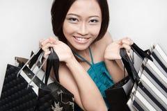 2可爱的女性顾客 库存照片