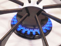 2台燃烧器接近的气体 免版税图库摄影