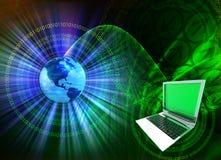 2台计算机混合技术 免版税库存图片