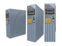 2台3d服务器 皇族释放例证