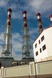 2同时发热发电工厂 免版税库存照片