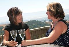 2名朋友说闲话的妇女 免版税库存照片