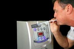 2呼吸设备测试 免版税库存照片