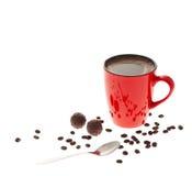 2咖啡杯红色 免版税图库摄影