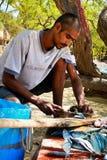 2哥伦比亚的渔夫 免版税库存图片