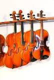 2四把小提琴 库存图片