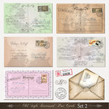 2困厄了老明信片被设置的样式 免版税图库摄影