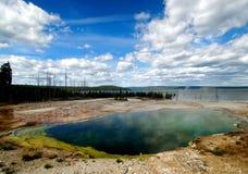 2国家公园池塘含硫黄石 库存图片
