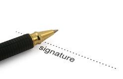 2圆珠笔签名 库存照片