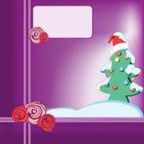 2圣诞树 免版税库存图片