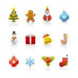 2圣诞节图标集 库存照片