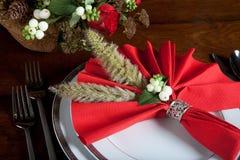 2圣诞节欢乐餐巾 免版税库存照片